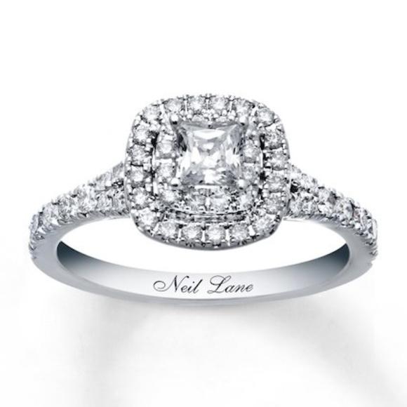 515d8c4302cb1b Kay Jewelers Jewelry | Neil Lane Princess Cut 101 Ct Tw Diamond Ring ...